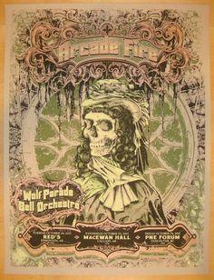 2005 Arcade Fire - Fall Tour Concert Poster by Burlesque