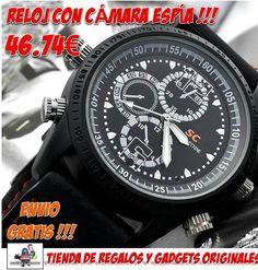 #espia #reloj #tienda #comprar #gadgets #novedaades #ofertas #descuentos #reloj espia Fantastico reloj espía con cámara oculta a un precio muy barato en nuestra tienda de gadgets espía. http://www.yougamebay.com/es/product/reloj-espia-reloj-con-camara-espia-dvr-sumergible-impermeable