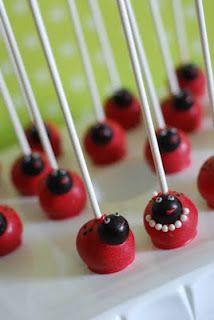 Ladybug Cakeballs @sweetcheekstastytreats