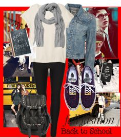 """""""Back to school outfit"""" by kjaer95 ❤ liked on Polyvore"""