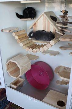 Wooden chinchilla cage                                                                                                                                                      More