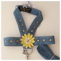 Dog harness crochet flower harness by HollywoodHounds on Etsy, $22.00