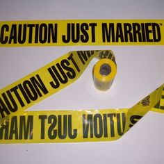 200' Caution Just Married Crime Scene Yellow Barricade Police Tape Wedding | eBay