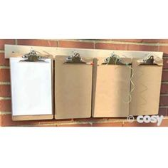 A4 WOODEN CLIPBOARDS (6PK) - Outdoor Writing - Literacy - Early Years - Cosy Direct