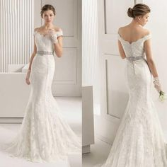 2015 Full Lace Wedding Dressees Vintage Mermaid Bateau Wedding Gowns with Crystal Belt Sleeveless Covered Button Smal Sweep Train from Gonewithwind,$314.14 | DHgate.com