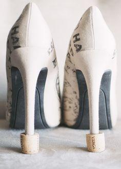 DIY cork heel protectors - perfect for outdoor summer weddings