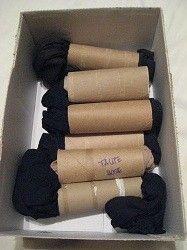 storing pantyhose