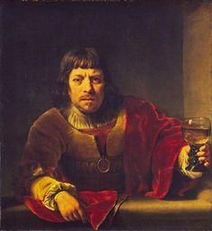 The Toper by Ferdinand Bol (1616–1680) Rembrandt, Ferdinand Bol, 17th Century Art, Dutch Golden Age, Academic Art, English Heritage, Museum, Dutch Painters, Historical Art