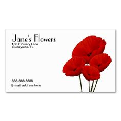 Flower Business Card. This is a fully customizable business card and available on several paper types for your needs. You can upload your own image or use the image as is. Just click this template to get started!
