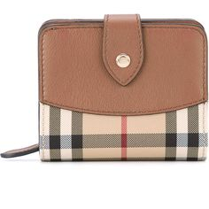 Burberry Horseferry check two fold wallet (102.890 HUF) ❤ liked on Polyvore featuring bags, wallets, brown, embossed leather wallet, zippered coin pouch, leather zipper wallet, zipper coin purse and zipper wallet