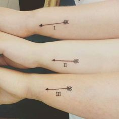 Image result for matching sister tattoos for 3