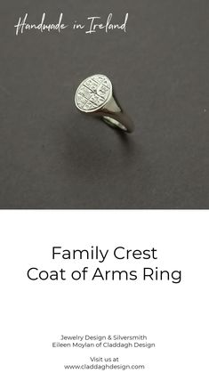 Coat of Arms Ring in Sterling Silver, handcrafted in Ireland by jewelry designer Eileen Moylan Father Of The Bride, Gifts For Father, Mens Silver Jewelry, Shaving & Grooming, Suit Prices, Irish Jewelry, Family Crest, Jewelry Designer, Claddagh