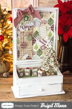 Carta Bella Magnetic Christmas Board With Drawer Diy Christmas Gifts, Christmas Projects, Christmas Holidays, Christmas Decorations, Christmas Ideas, Holiday Decor, Xmas, Craft Projects, Projects To Try