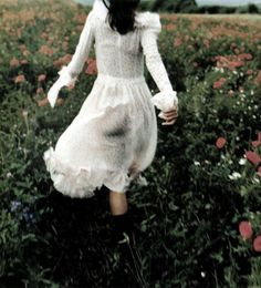 All I want to do with my life is run through fields of flowers wearing beautiful dresses