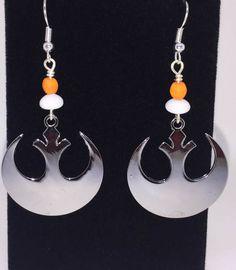 Rebel Alliance Earrings _ Star Wars Earrings _ Charm Earrings _ Handmade Earrings
