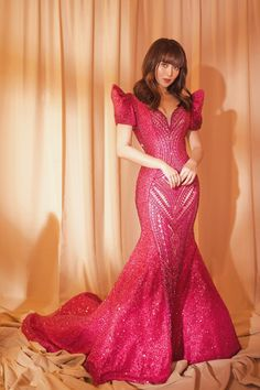 She spills the deets on her look! Debut Gowns, Debut Dresses, Gala Dresses, Event Dresses, Bridal Dresses, Nice Dresses, Formal Dresses, Modern Filipiniana Gown, Filipiniana Wedding