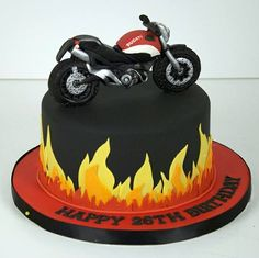 flame ducati motorcycle cake toronto This is a cake my dad would LOVE, may have to make him one for his birthday but figure out a sugar free version if that's possible. Birthday Cakes For Men, Motorcycle Birthday Cakes, Motorcycle Cake, Ducati Motorcycle, Cake Birthday, 40th Cake, 26th Birthday, Birthday Desserts, Cake Topper Tutorial