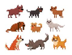 PIXEL ON YOU, PIXEL ON YOUR COW — I was sad today, so I pixeled some dogs.