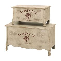 I pinned this 2 Piece Paris Trunk Set from the Country Elegance event at Joss and Main!