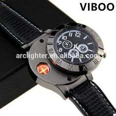 Source hot sale new fashion design smart man watch lighter usb on m.alibaba.com