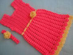 Crochet - Crosia Free Patttern with Video Tutorials: Baby Frock Crochet Toddler Dress, Baby Girl Crochet, Crochet Baby Clothes, Crochet For Kids, Free Crochet, Crochet Dresses, Baby Frock Pattern, Frock Patterns, Baby Patterns