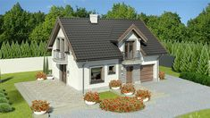Contemporary Homes For Sale - House Plan Elevation - 2 Floor 2599 sq ft Simple House Plans, New House Plans, Modern House Plans, House Design Pictures, Small House Design, Low Budget House, Three Bedroom House Plan, House Plans With Photos, 100 M2