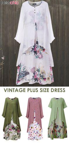Vintage Plus Size Dress. - Plus Size Fashion & Dress Modest Summer Outfits, Plus Size Bikini, Vintage Style Dresses, Types Of Dresses, Plus Size Women, Plus Size Fashion, Fashion Dresses, Vintage Fashion, Dress Casual
