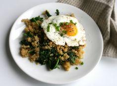 sunny kale + quinoa sauté // moderndayhomemaking.com