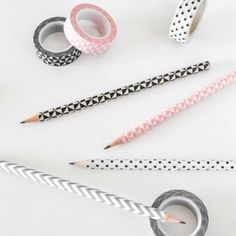 Check out this quick washi tape hack and the simple way to make old pencils look cool again!