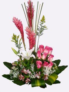 FL236 Tropical Flower Arrangements, Tropical Flowers, Summer Flowers, Rare Plants, Unusual Plants, Ginger Flower, Ikebana, Church Flowers, Sympathy Flowers