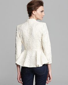 Alice + Olivia Jacket - Polly Peplum Lace | Bloomingdale's