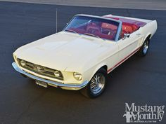 1967 Ford Mustang Gt Red Interior View Photo 6