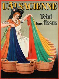 L'Alsacienne fabric dye vintage advertisement ~ Dorfi (Albert Dorfinant)