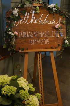 Wedding  Schilder  Paintings Signs Willkommen