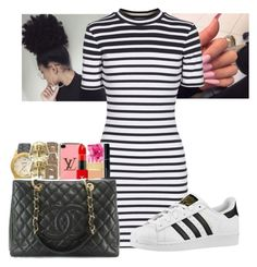 """Never did this so....."" by imghtbeeblue ❤ liked on Polyvore featuring T By Alexander Wang and adidas Originals"