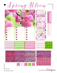 Free Printable Spring Bloom Planner Sticker | The Wonderful Life of the Crazy Mom