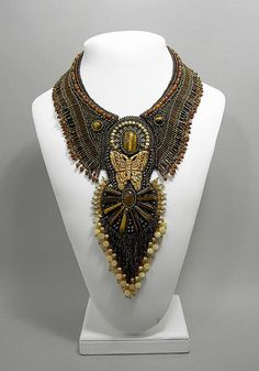 "Necklace | Betty Stephan. ""Tiger Moth"""