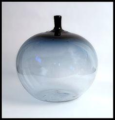 """Ingeborg Lundin for Orrefors """"apple"""" vase"""