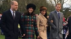 December 25, 2017 The Duke and Duchess of Cambridge, Prince Harry and Meghan Markle arrive at St Mary Magdalene Church