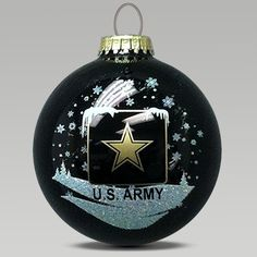 Army Star Ornament. Im going to need this for Christmas!