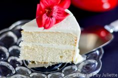This white cake recipe is the perfect combination of fluffy and moist. It's perfect for wedding cake.