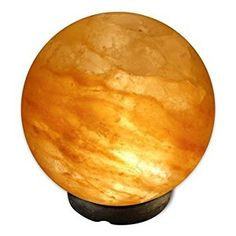 Amazon.com: Crystal Allies Gallery CA SLS-GLOBE-S Natural Himalayan Globe Salt Lamp Ionic Air Purifier on Wood Base with Cord: Home Improvement