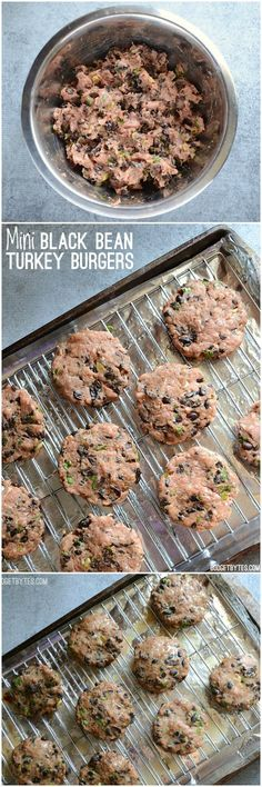 These flavorful mini black bean turkey burgers come together quickly and bake in the oven for a fast, no fuss dinner. Step by step photos.