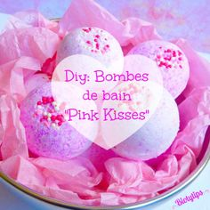 "Diy: Bombes de bain ""Pink Kisses"" Bath And Beyond, Beauty Shop, Bath Salts, Homemade Beauty, Bath Bombs, Girly Things, Bath And Body, Icing, Gifts"