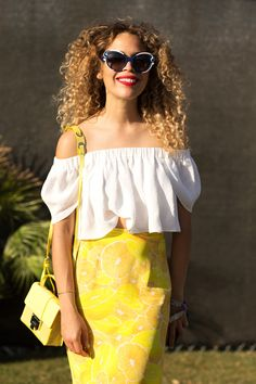 50+ Stylish Folks Who Rocked Coachella #refinery29  http://www.refinery29.com/coachella-style#slide71  Cleo Wade's colorful skirt is curing our post-Coachella blues.