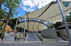 Tensile fabric structures are really cool amphitheaters for performing arts. Tensile Structure Systems USA creates unique spaces f using PTFE tensile membrane technology.