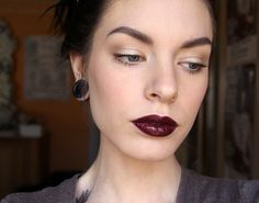 "MAC ""Blackware"" lipgloss over Illamasqua ""Dioblo"" lipstick. Drugstore Dupe = Rimmel ""Black Diva"" over Revlon ""Black Cherry"""