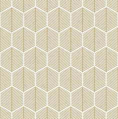 Gold Hexagonal Leaf Pattern Mini Art Print by Hex Decor - Without Stand - x Geometric Patterns, Geometric Art, Geometric Wallpaper, Motif Hexagonal, Hexagon Pattern, Pattern Design, Pattern Images, Motifs Textiles, Textile Patterns