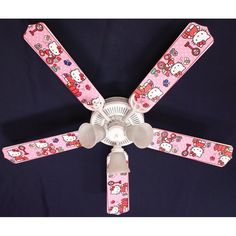 Ceiling Fan Designers Hello Kitty Sweet Dreams Indoor Ceiling Fan - 42FAN-KIDS-HKSDK