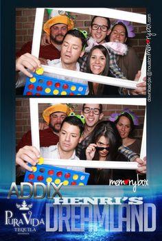 Memorybox photobooth with addix and puravida tequila